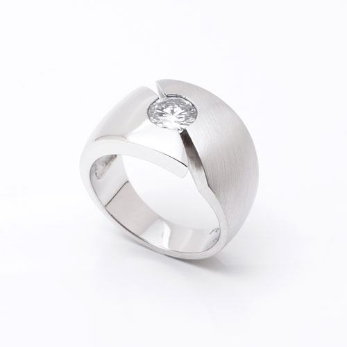 Ring-Platin-Brillant